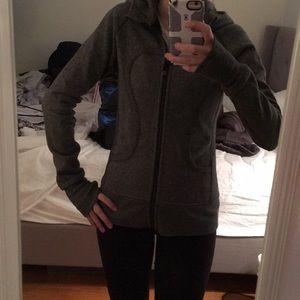 Size 4 Lululemon Zip Up Grey - Like New